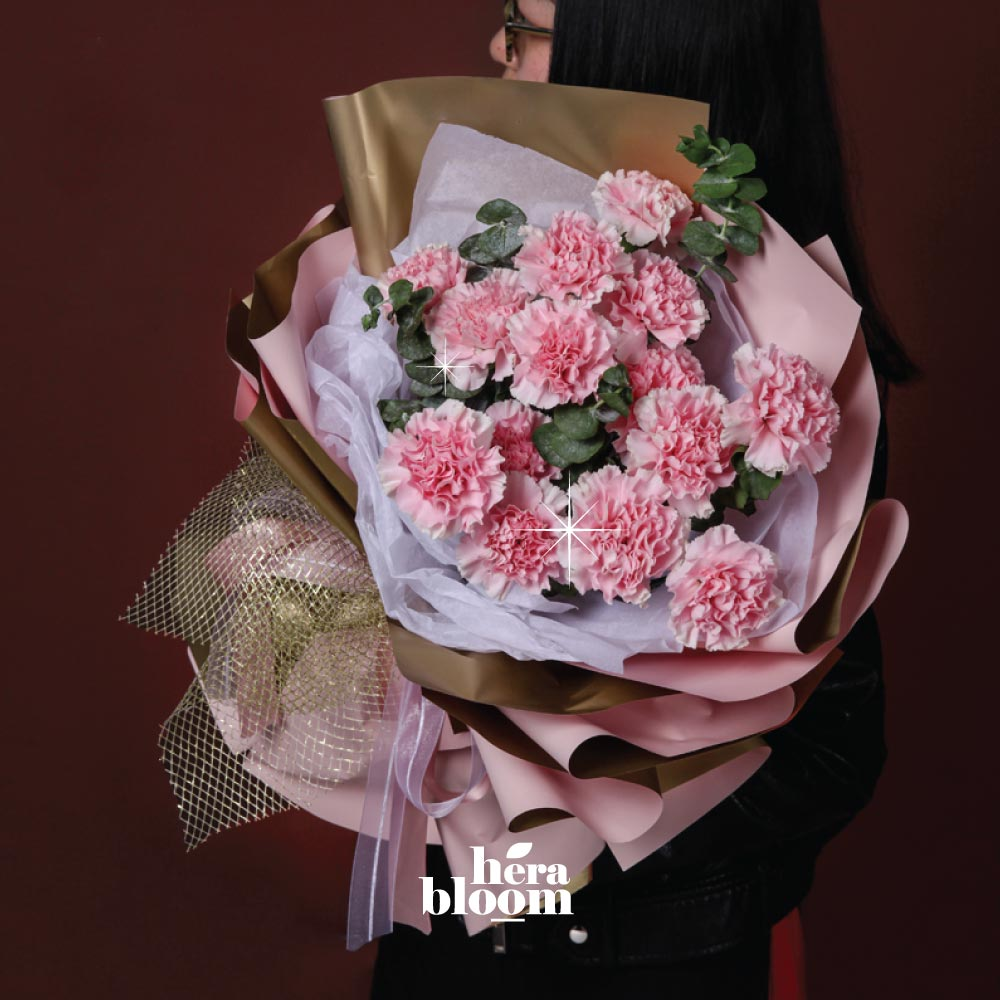 Pink Carnation Bouquet - Hera Bloom