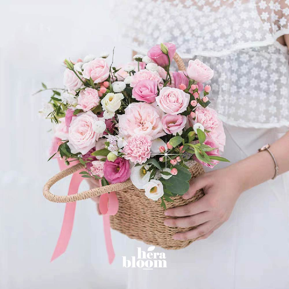 Pink Pastel Basket - Hera Bloom