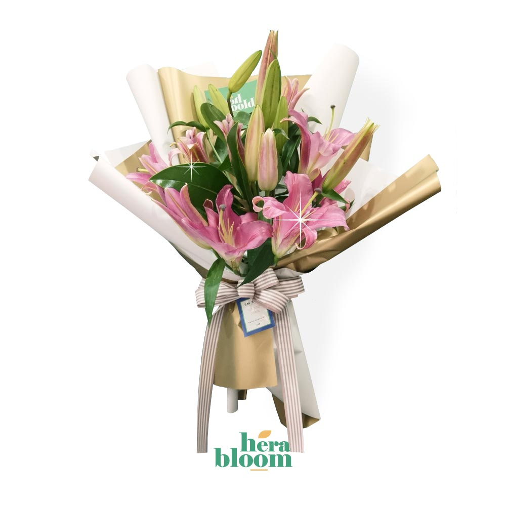 Pink Lily Bouquet - Hera Bloom