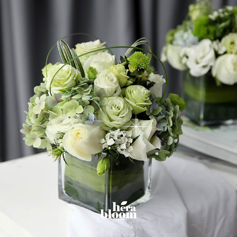 Green Series Vase Arrangement - Hera Bloom