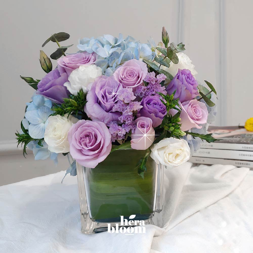 Purple Series Vase Arrangement - Hera Bloom