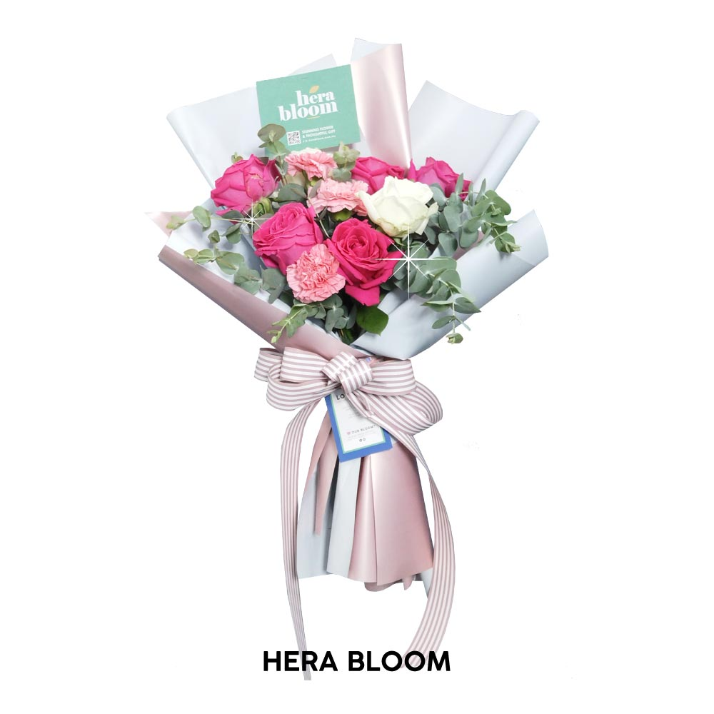 Pink Carnation Mixed Bouquet - Hera Bloom