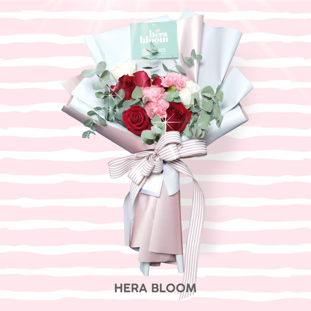 Red Carnation Mixed Bouquet - Hera Bloom