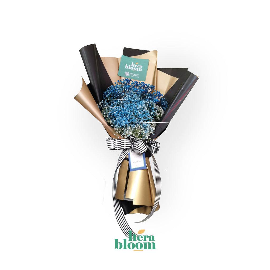 Blue Baby Breathe Bouquet - Hera Bloom
