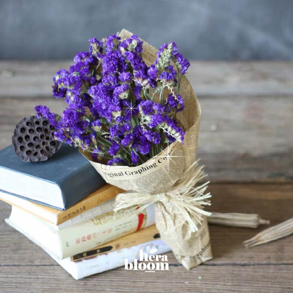 Purple Statice Mini Bouquet - Hera Bloom