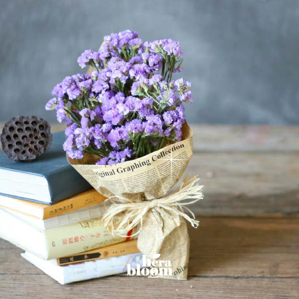 Lilac Statice Mini Bouquet - Hera Bloom