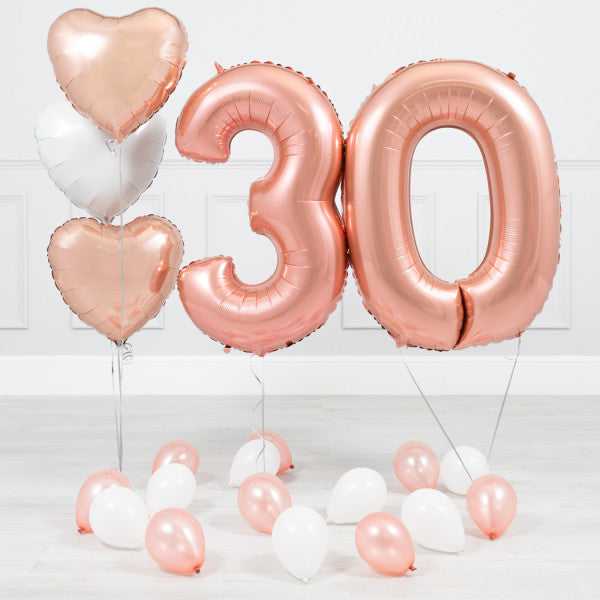 30 Rose Gold Foil Balloon - Hera Bloom