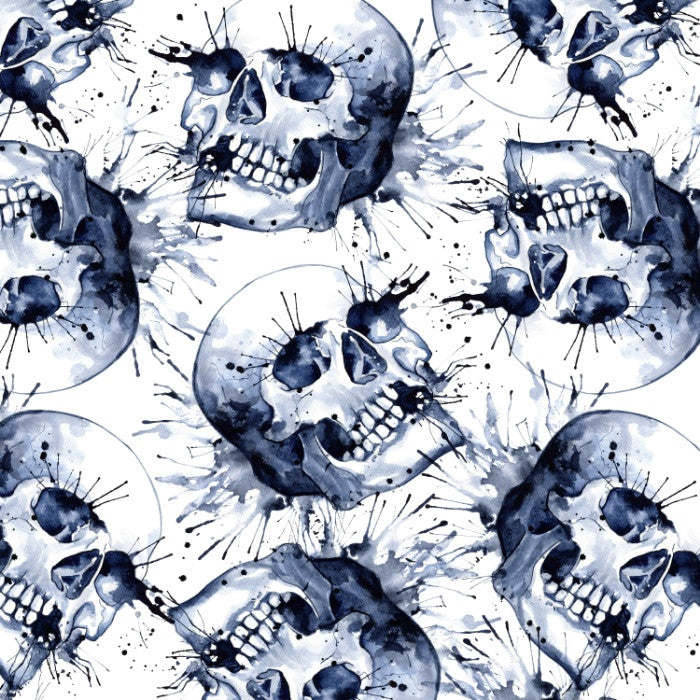 Watercolor Skull Duvet Cover - Duvet Planet