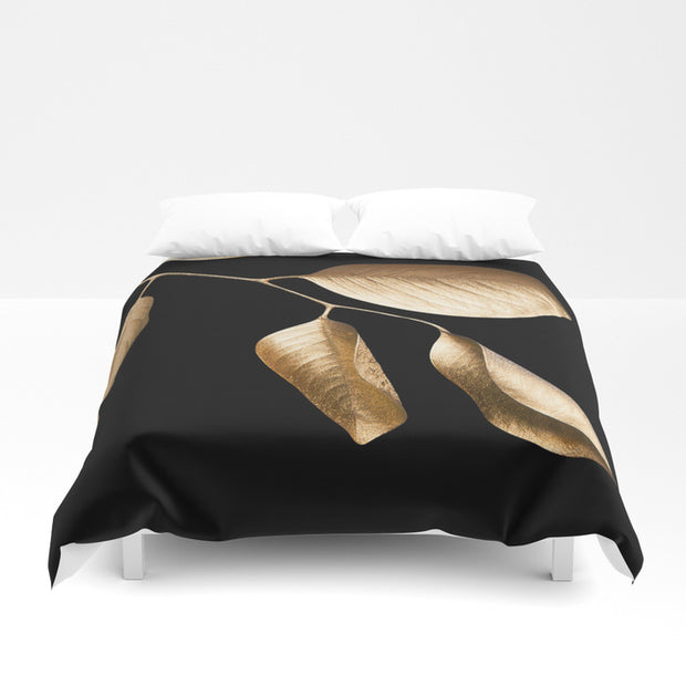 Golden Leaves Duvet Cover - Duvet Planet