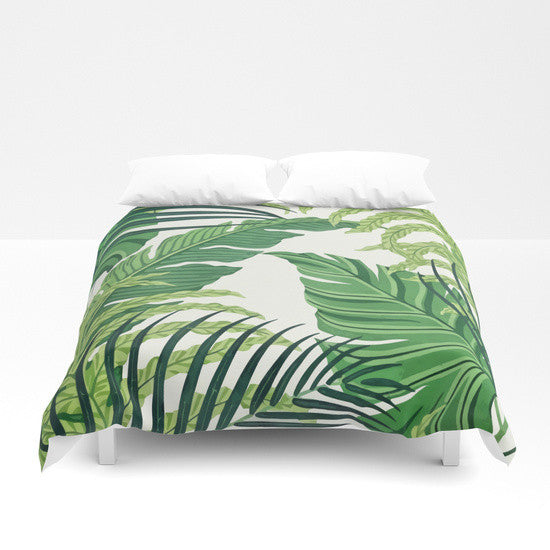 Green Tropical Summer Duvet Cover - Duvet Planet