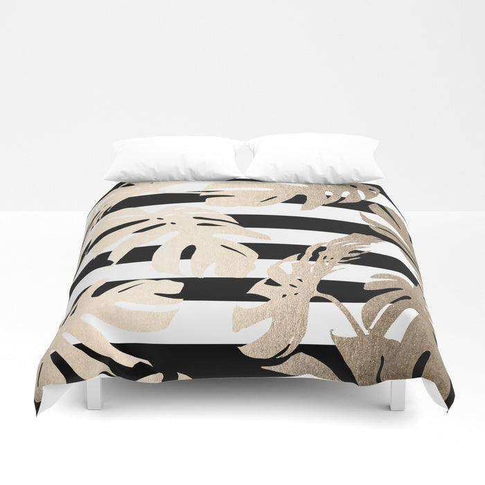 Gold Palm Leaves Duvet Cover - Duvet Planet