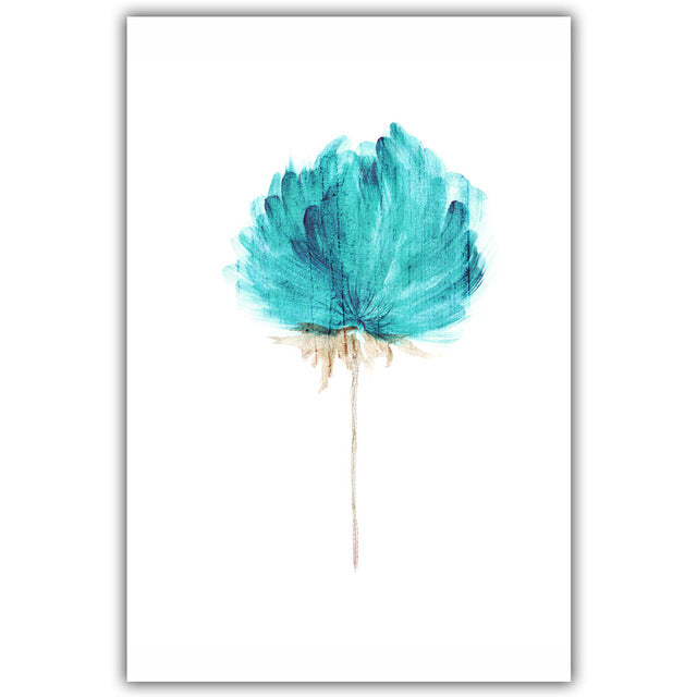 Watercolor Flower Canvas - Duvet Planet