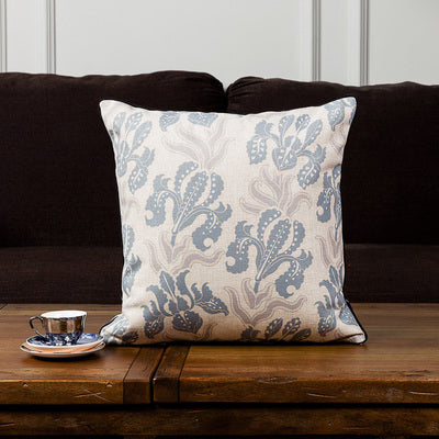 Blue Floral Cushion Covers - Duvet Planet