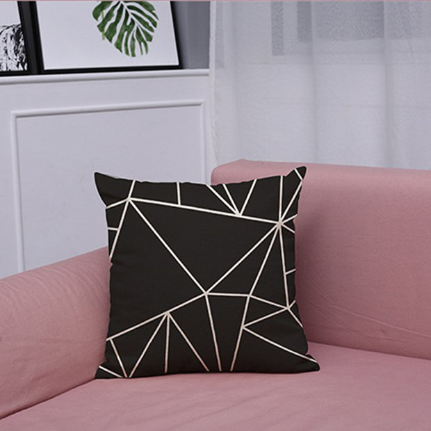 Black And White Geometric Cushion Covers - Duvet Planet