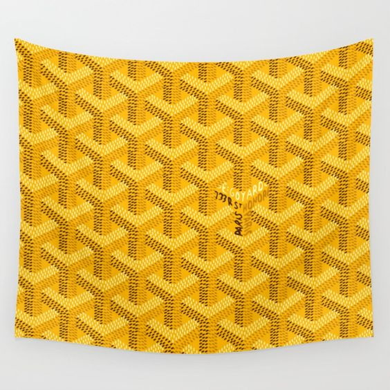 Yellow Goyard Style Tapestry - Duvet Planet