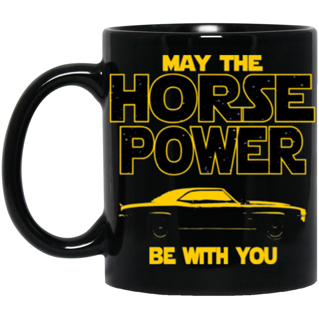 Camaro SS 1969 Black Coffee Mug - May The Horse Power Be With You