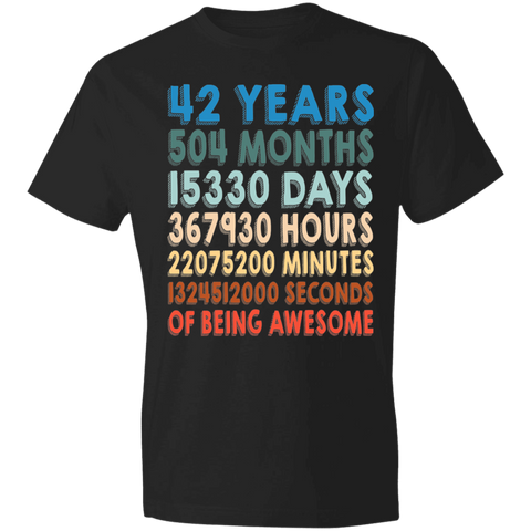 42 Years Of Being Awesome T-shirt | 42nd Birthday Gift
