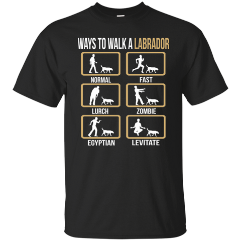 Funny Labrador Tee Shirt | Ways To Walk A Labrador