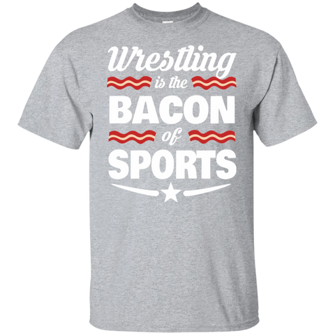 Wrestling T shirt Wrestling Fan Shirt Wrestling Is The Bacon Of Sports T-shirt