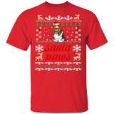 Santa Paws Basset Hound T-shirt | Christmas Gift For Basset Hound Dog Owners