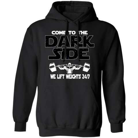 Bodybuilder Hoodie | Come To The Dark Side, We Lift Weights 24/7