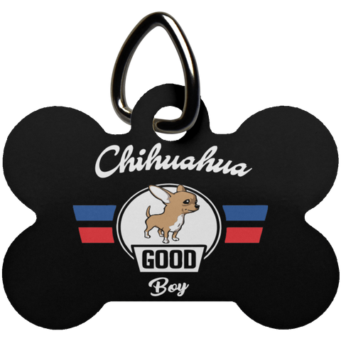 Chihuahua Good Boy Bone Pet Tag | Gift For Chihuahua Dog Lovers
