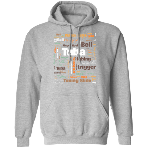 Tuba Player Hoodie | Tuba Player Gift | Gift For Musician | Tuba Words | Tuba Terms | Cool Tuba Gift | Tuba Musician Gift | Tuba Hoodie