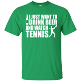Beer and Tennis Fan - Funny Unisex T-shirt