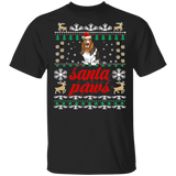 Christmas T shirt Basset Hound Ugly Sweater Design Christmas Gift For Dog Lovers Unisex T shirt