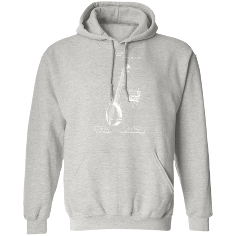 Banjo Patent Hoodie - Banjo Graphics Gift For Banjo Players