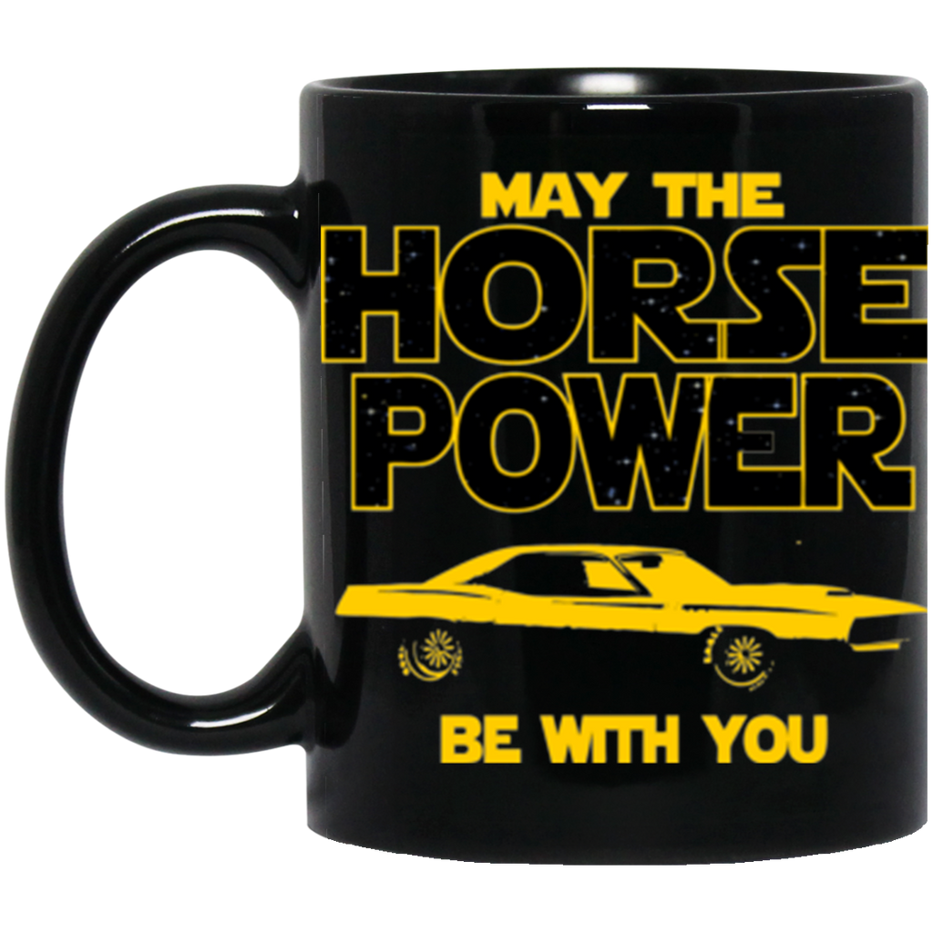 Plymouth Cuda 1971 Mug - May The Horse Power Be With You