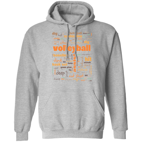Volleyball Hoodie - Commonly Used Volleyball Players Terms - Terminology Hoodie