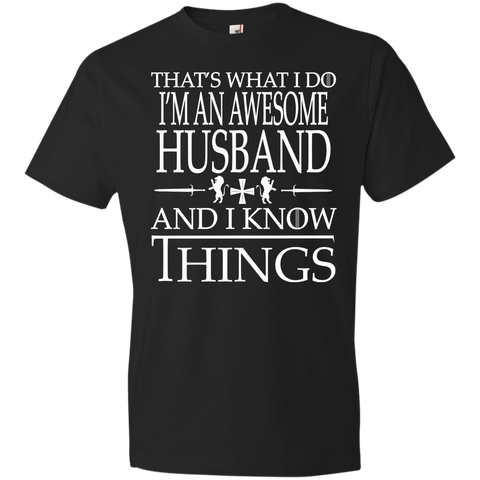 980 Anvil Awesome Husband Gift T shirt