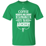 Archery T-shirt Tee Gift For Him Valentine Gift Graphic Tees Coffee Shirt