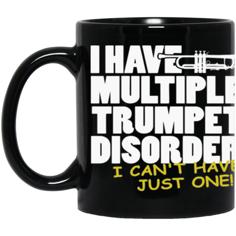 Trumpet Disorder Black Coffee Mug 11.Oz