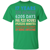17th Birthday T shirt - Years Months Days Hours Minutes And Seconds