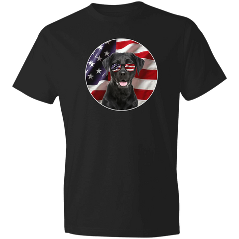Black Labrador USA T-shirt | American Flag And USA Sunglasses Cool Dog T shirt