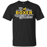 Boxer Dog T shirt - Characteristics T-shirt - Gift For Boxer Owners