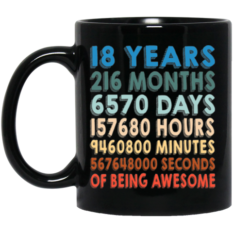 18th Birthday Mug | 18th Birthday Gift | 18 Years Mug | Mug 18th Birthday | Birthday Cups | Birthday Gift | Gift For Birthday | Cute Mug