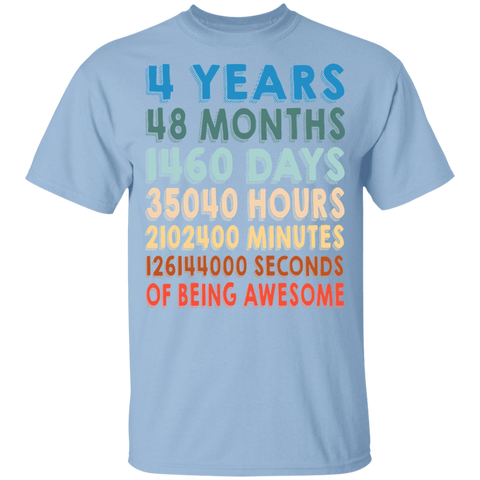 4 Years Of Being Awesome T-shirt | 4th Birthday Gift