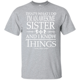 Sister T shirt | Gift For Sister | Awesome Sister Tee | Big Sister Shirt | Little Sister Gift | Gift For Her | Best gift Her | Sister Tee