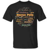 Horse Polo Terminology T shirt / Horse Polo Gift / Horse Polo Shirt / Horse Polo Art / Horse Polo Terms / Golf Shirt / Colorful T shirt
