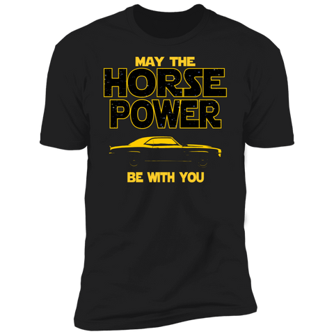 1969 Camaro SS Inspired T-shirt | May The Horse Power Be With You