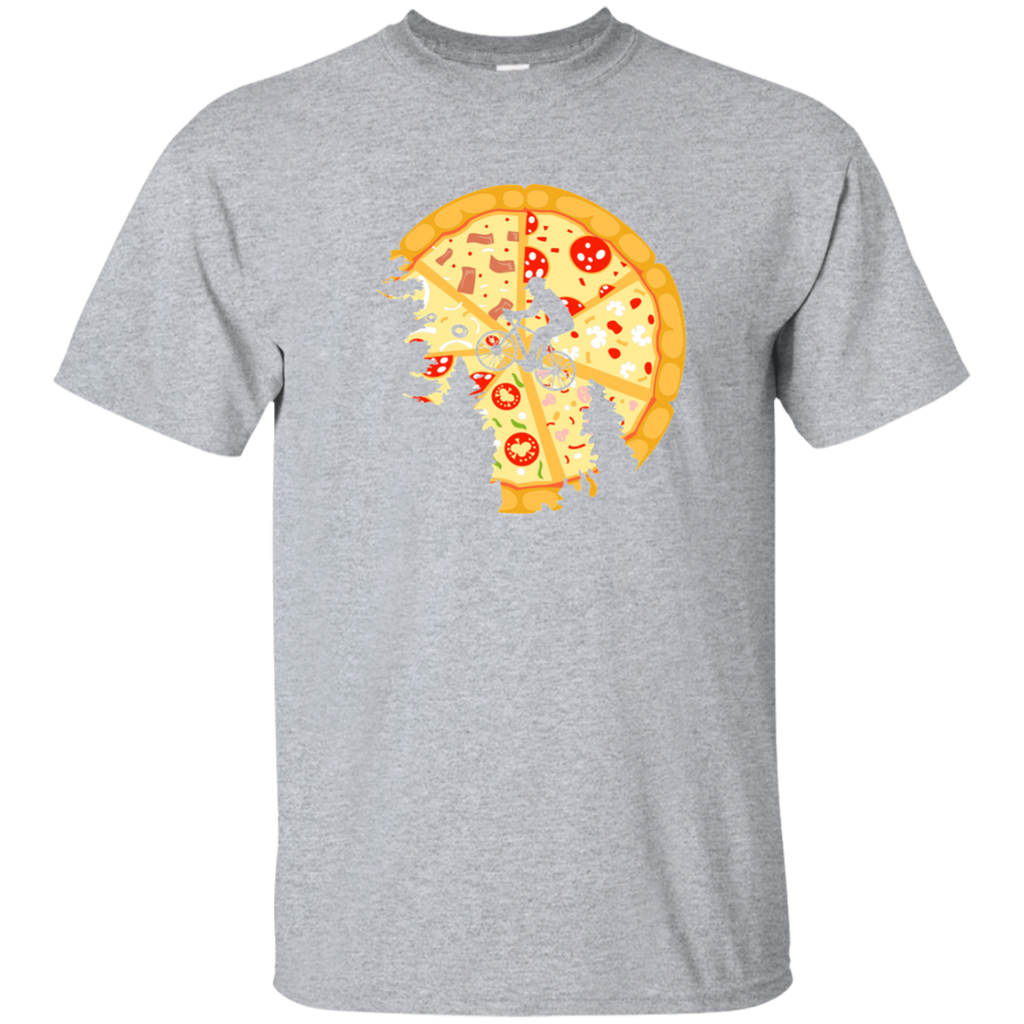 Pizza Moon Tee Cute Pizza Tee Best Pizza Tee Pizza Lover Shirt Biker T shirt Bicycle Lover Tee Love Pizza Tee Moon T shirt Pizza Tee