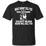 Bears Shirts Grizzly T shirt Grizzly Tee Bear Tee Camping Shirt Funny T-shirt Grizzly Bear Shirt Funny Hunter Shirt Animal Shirt