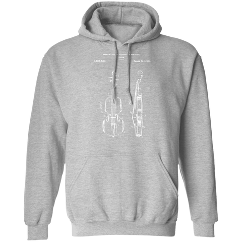 Violin Patent Hoodie - Gift For Violin Players