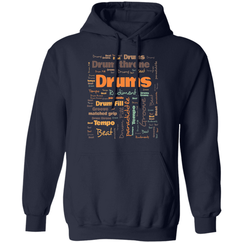 Drummer Terminology Hoodie | Commonly Used Terms Amongst Drummers