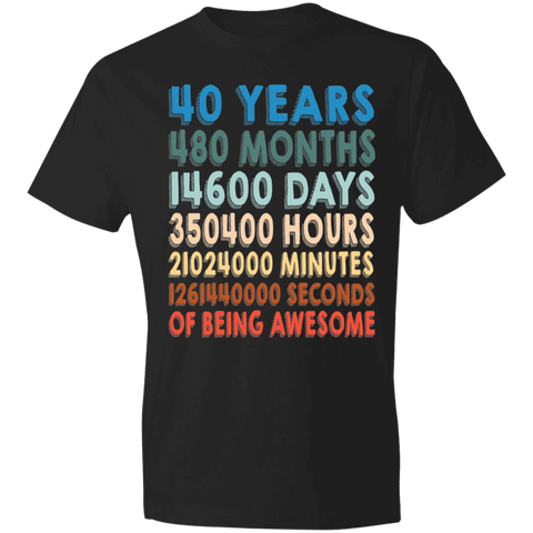 40 Years Of Being Awesome T-shirt | 40th Birthday Gift