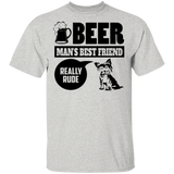 Yorkshire Terrier T shirt Man's Best Friend Beer Lovers Gift