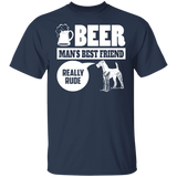Airedale Terrier T-shirt - Beer Man's Best Friend T-shirt - Funny T-shirt